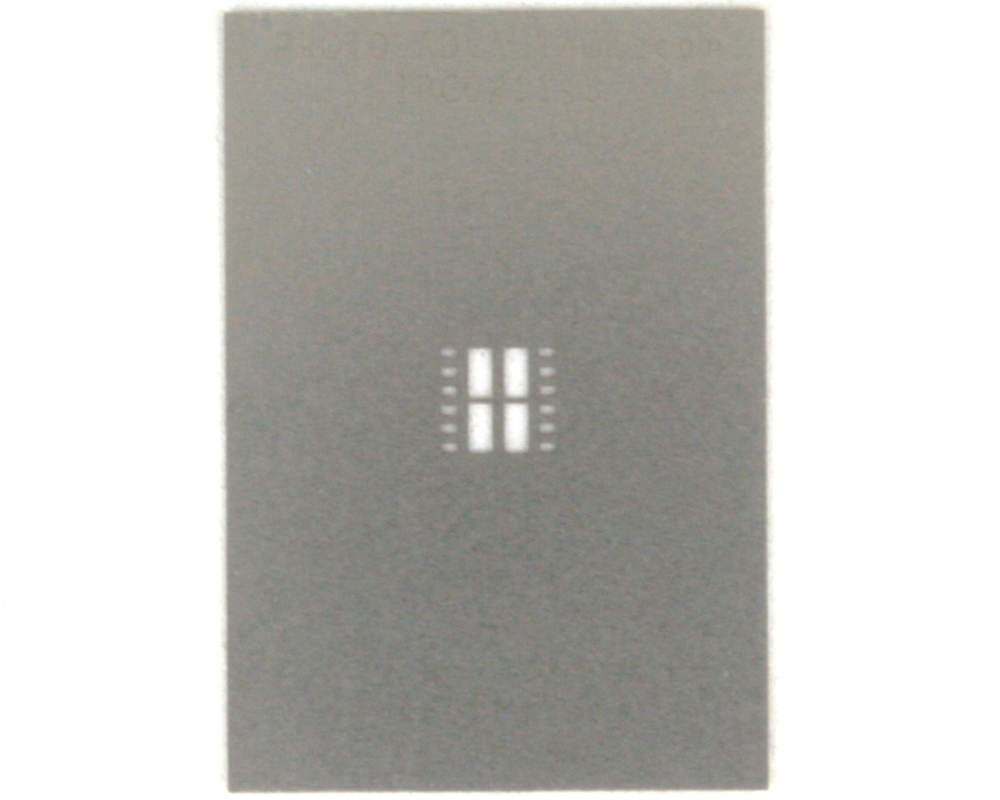 DFN-12 (0.8 mm pitch, 5 x 4.5 mm body, split pad (4)) Stainless Steel Ste 0