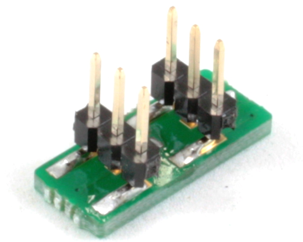 DFN-6/SON-6 to DIP-6 SMT Adapter (0.35 mm pitch, 1 x 1 mm body) 1