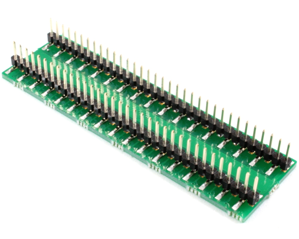 HTQFP-64 to DIP-68 SMT Adapter (0.4 mm pitch, 7 x 7 mm body) 1