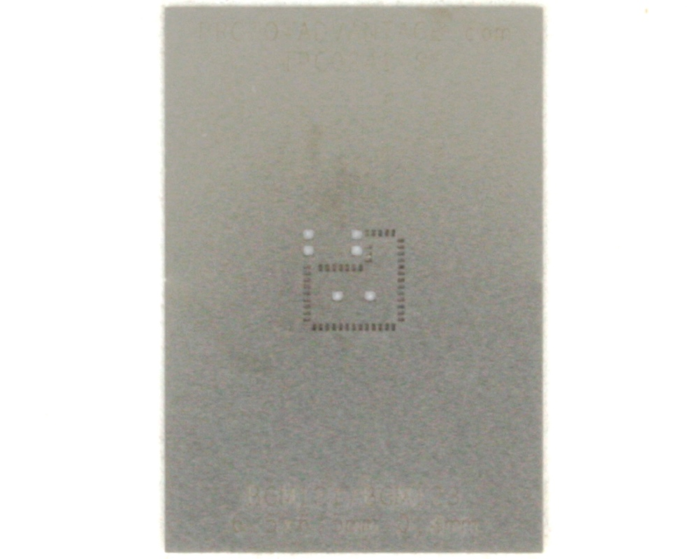 BGM121/BGM123 (0.4 mm pitch, 6.5 x 6.5 mm body) Stainless Steel Stencil 0