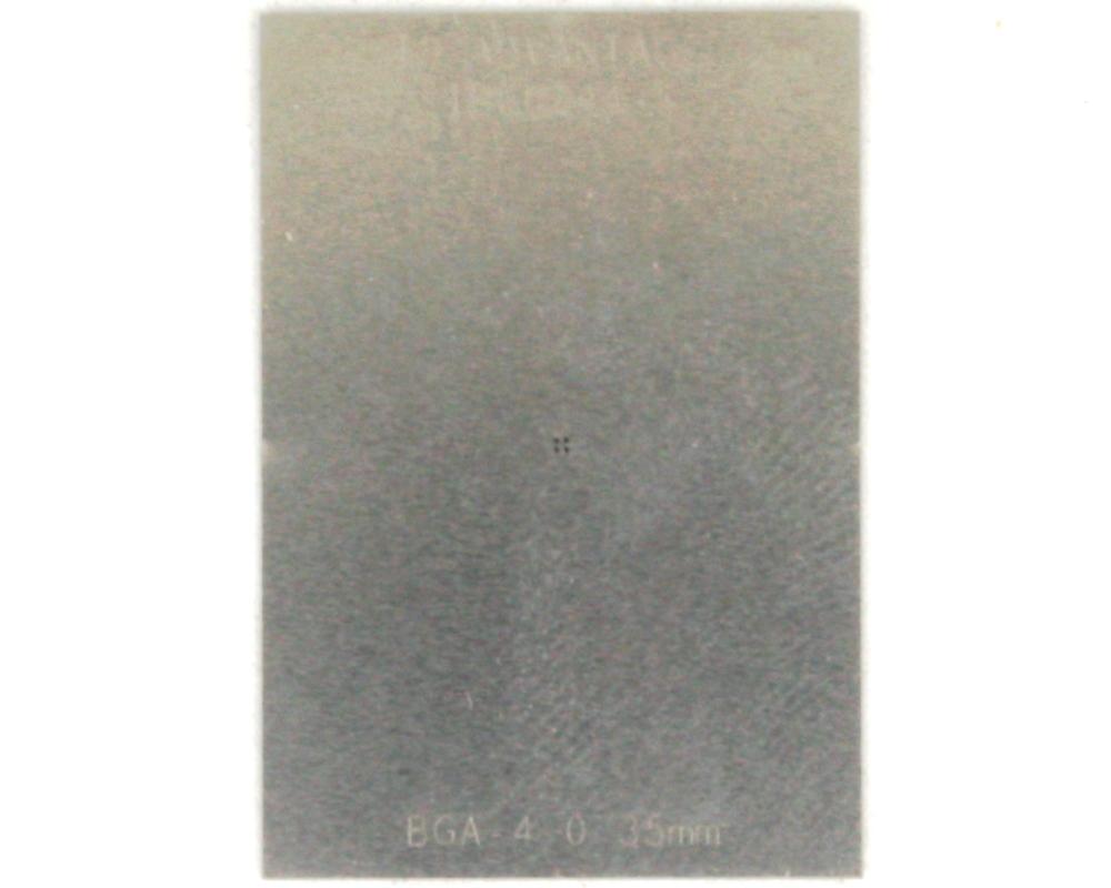 BGA-4 (0.35 mm pitch, 0.64 x 0.64 mm body) Stainless Steel Stencil 0