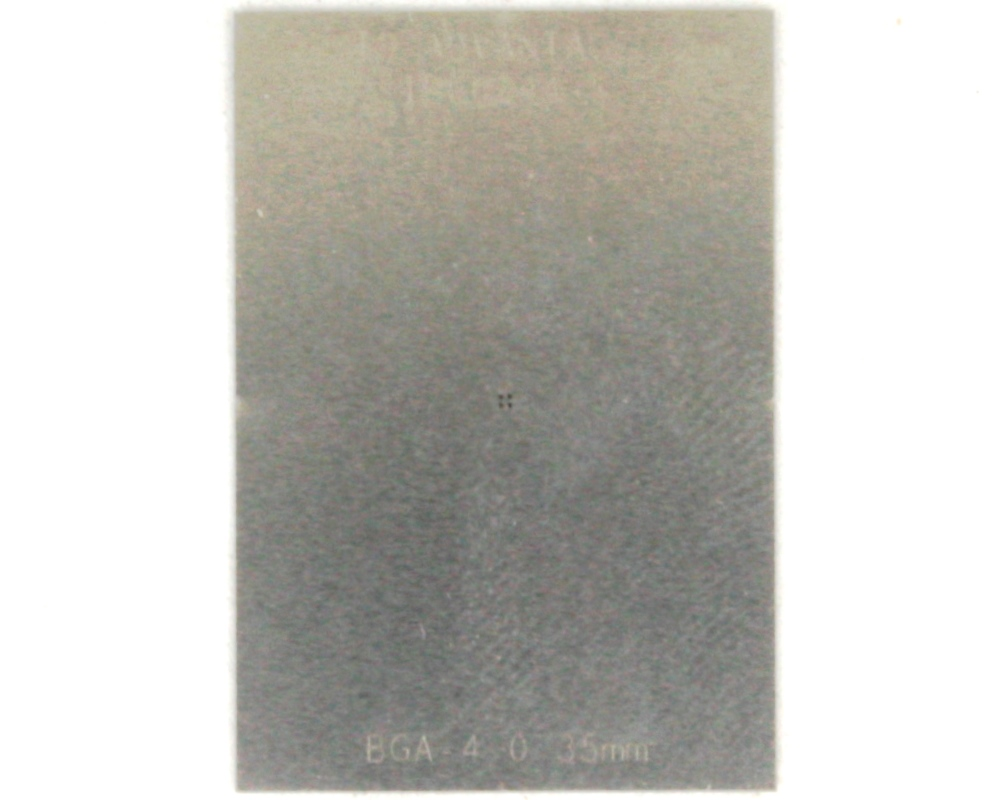 BGA-4 (0.35 mm pitch, 0.64 x 0.64 mm body) Stainless Steel Stencil 0