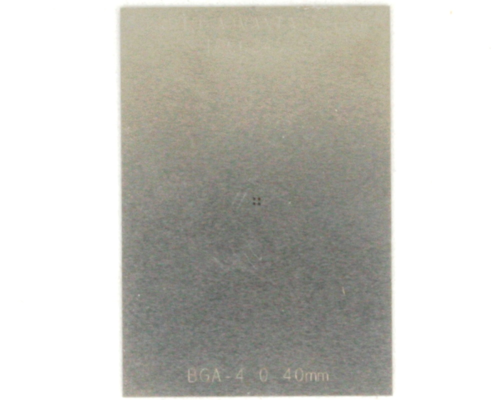 BGA-4 (0.4 mm pitch, 0.88 x 0.88 mm body) Stainless Steel Stencil 0