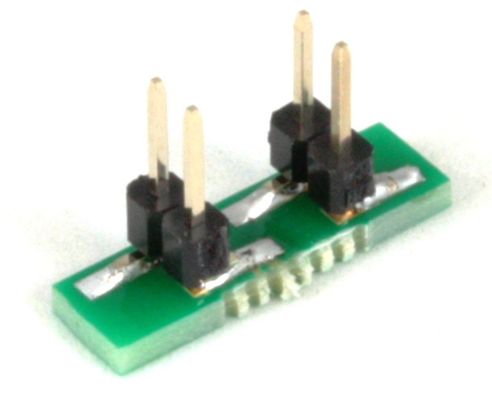 BGA-4 to DIP-4 SMT Adapter (0.4 mm pitch, 0.88 x 0.88 mm body) 1