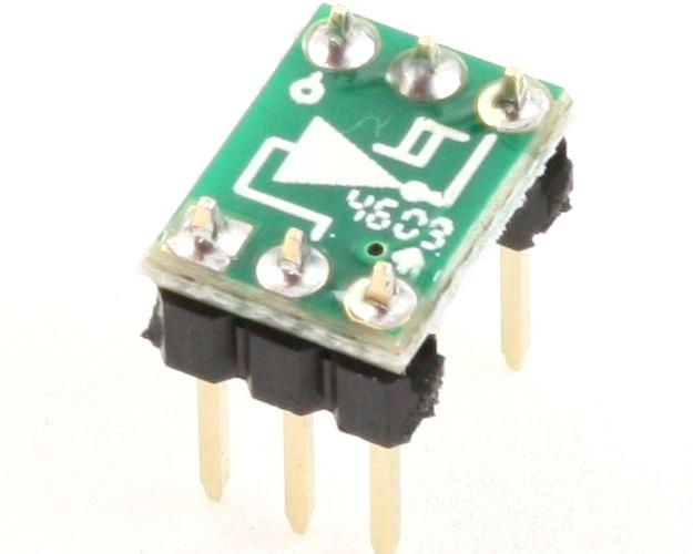 Inverter, Schmitt Triggered to DIP-6 SMT Adapter 0