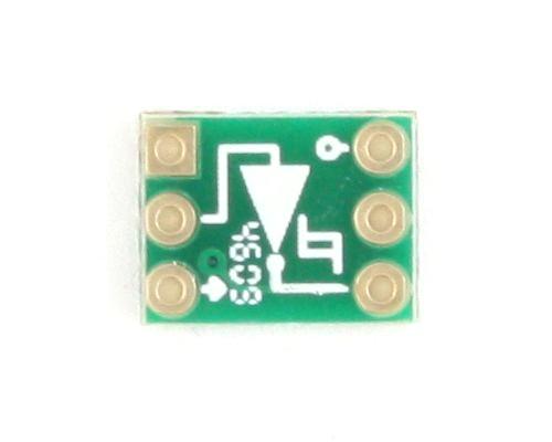 Inverter, Schmitt Triggered to DIP-6 SMT Adapter 1