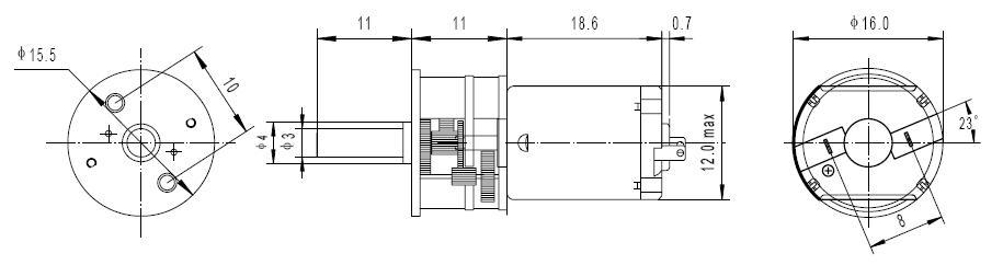 DC Gear Motor 5V 170RPM 88mN-m 1