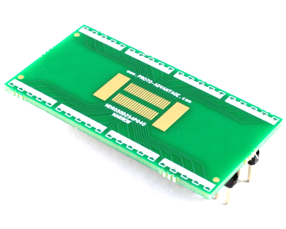 Narrow Dual Row 0.5mm Pitch 40-Pin Connector to DIP-40 Adapter 0
