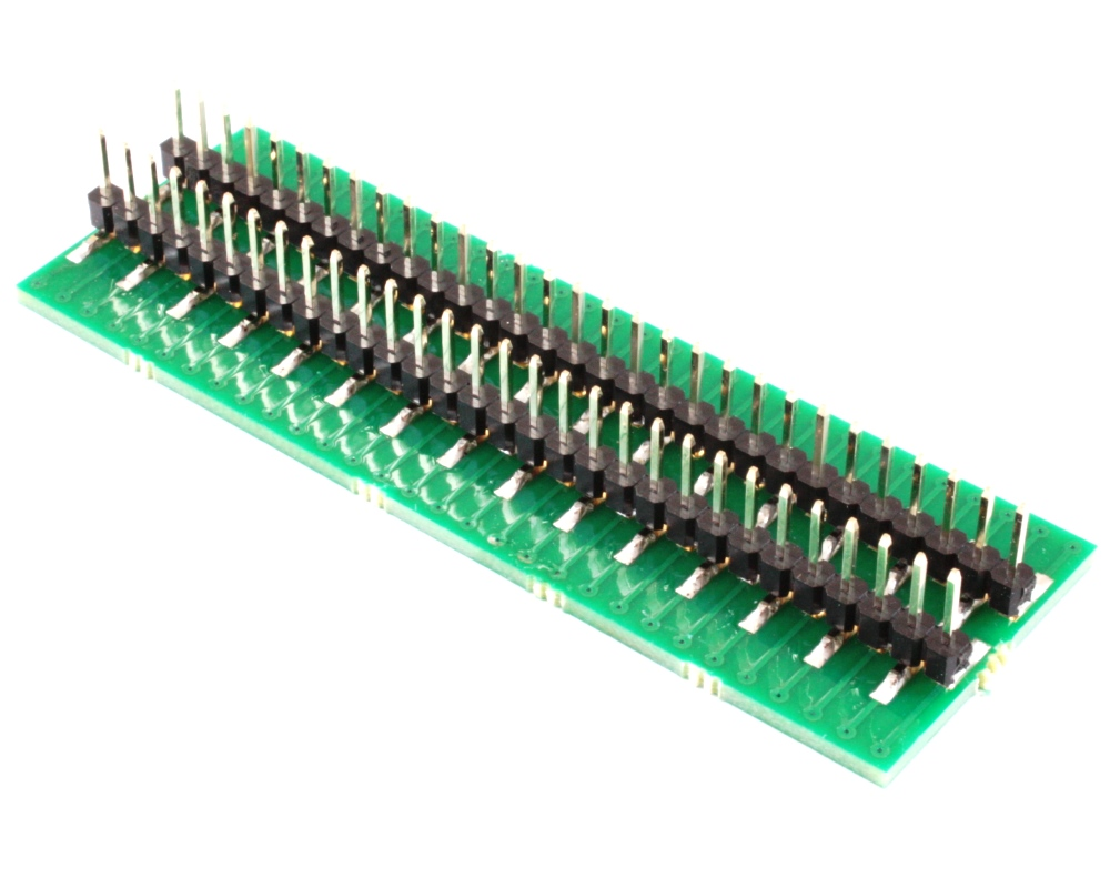 Narrow Dual Row 0.5mm Pitch 60-Pin Connector to DIP-60 Adapter 1