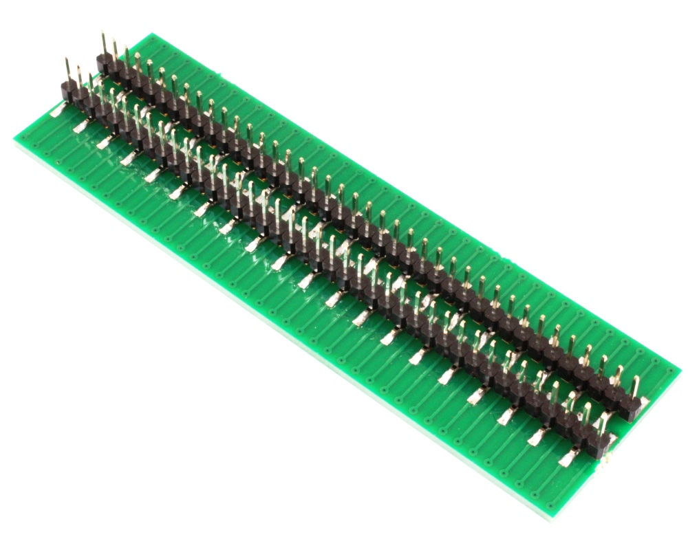 Narrow Dual Row 0.5mm Pitch 80-Pin Connector to DIP-80 Adapter 1