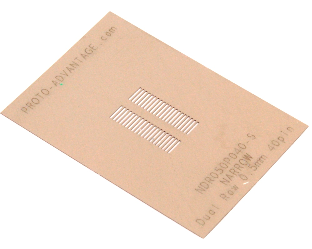 Narrow Dual Row 0.5mm Pitch 40-Pin Connector Stencil 0