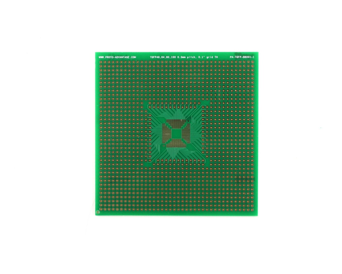 TQFP 48,64,80,100 pin breadboard - TH 0