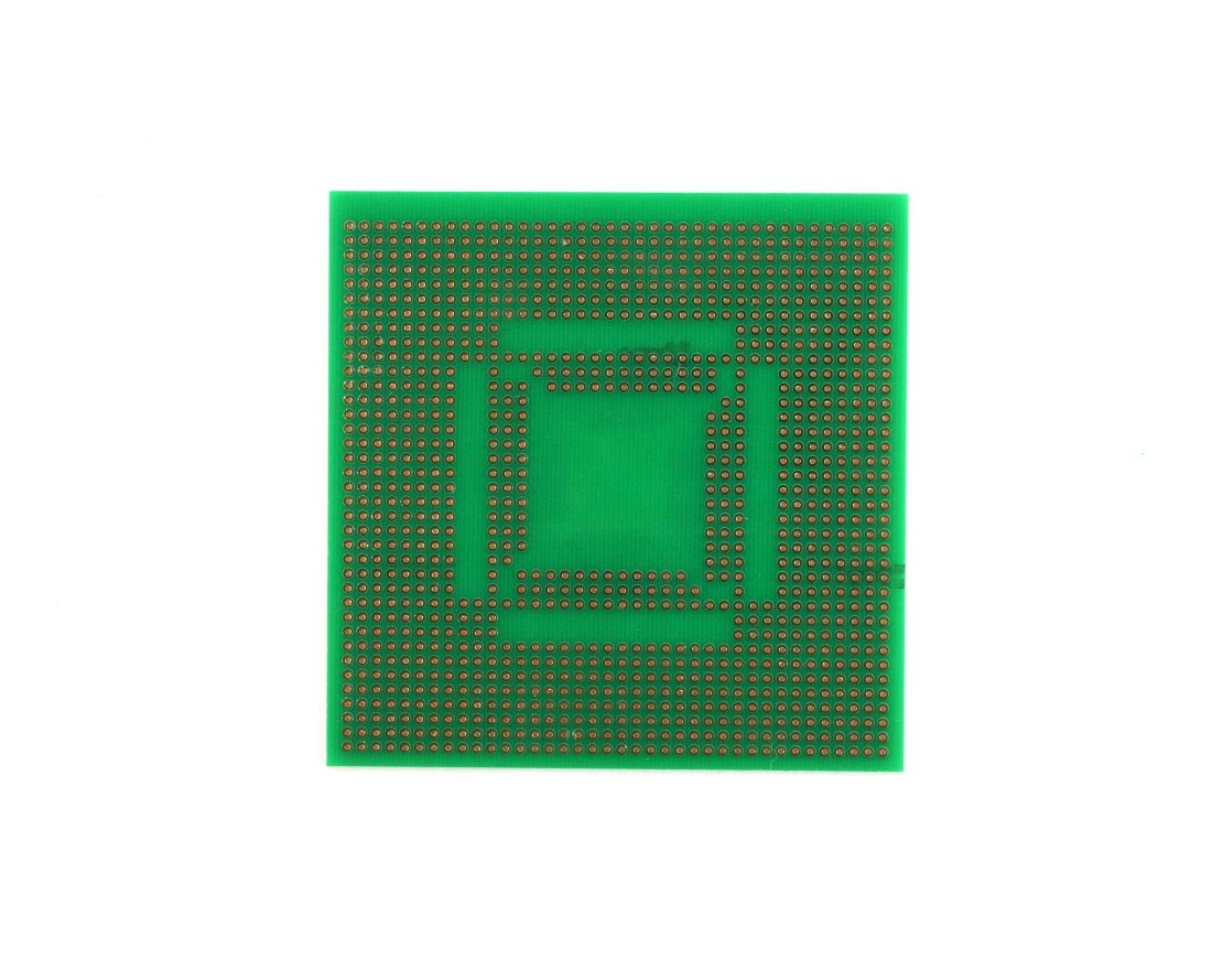 TQFP 48,64,80,100 pin breadboard - TH with 0805 1