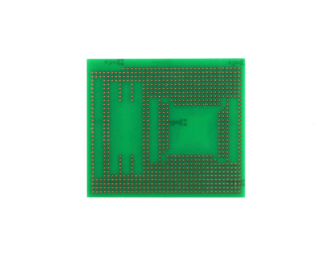 TQFP 48,64,80,100 pin breadboard - TH with SOIC-48, SOIC-8, 0805 1