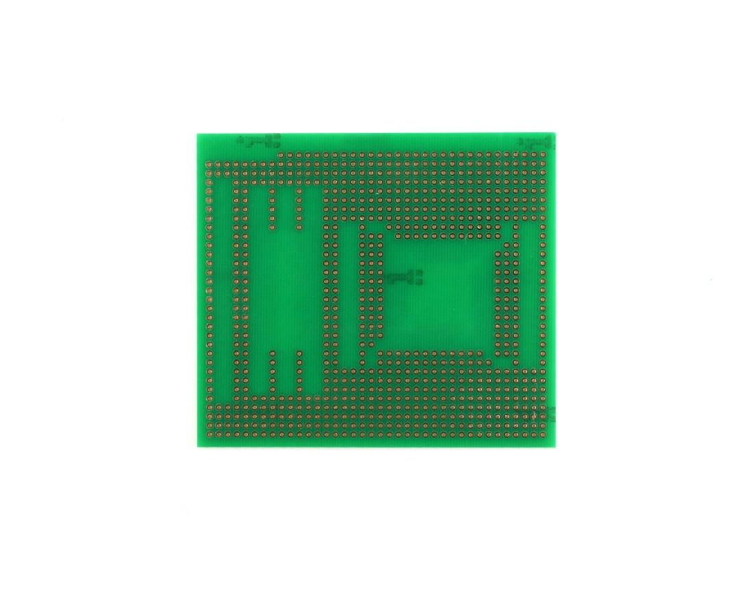 TQFP 48,64,80,100 pin breadboard - TH with SOIC-48, SOIC-8, 0805 1