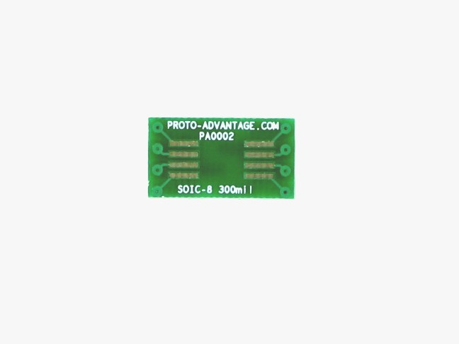 SOIC-8 to DIP-8 SMT Adapter (1.27 mm pitch, 300 mil body) 2