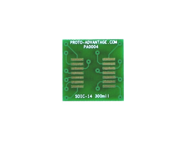 SOIC-14 to DIP-14 SMT Adapter (1.27 mm pitch, 300 mil body) 2