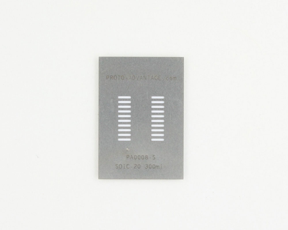 SOIC-20 (1.27 mm pitch) Stainless Steel Stencil 0