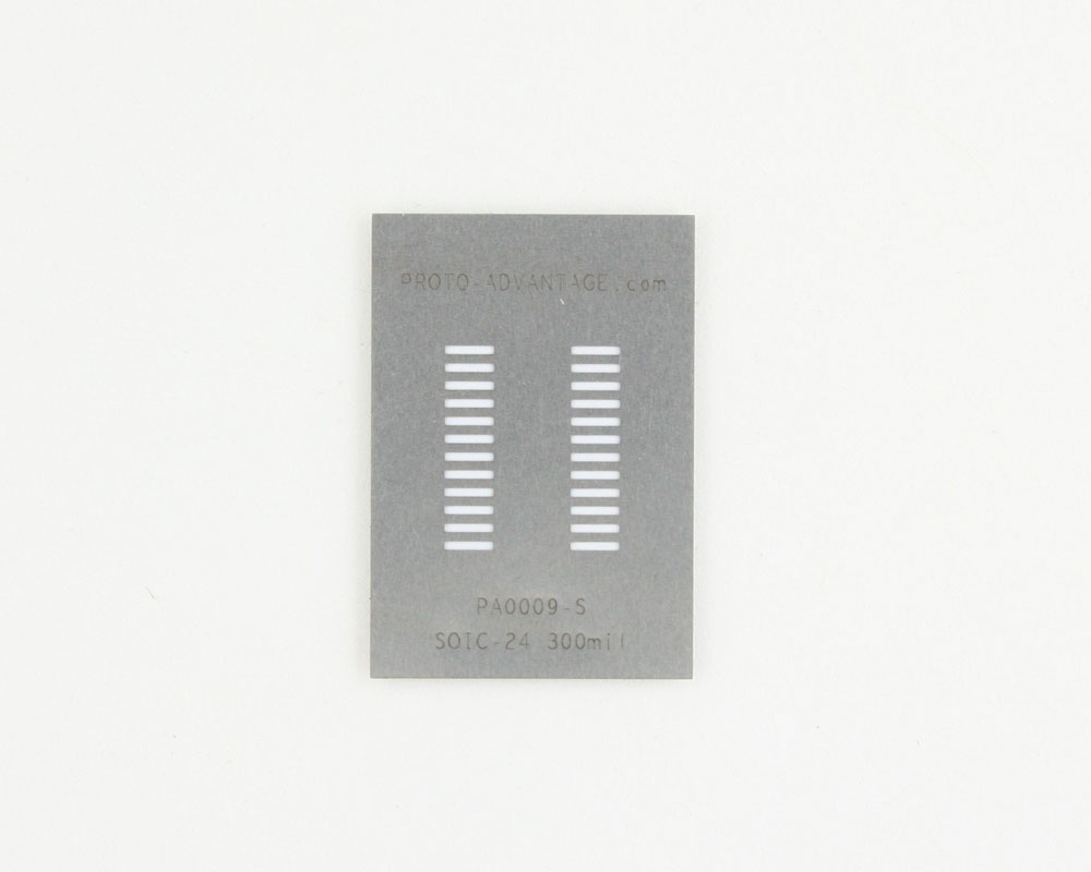 SOIC-24 (1.27 mm pitch) Stainless Steel Stencil 0