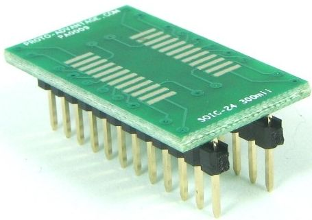 SOIC-24 (1.27 mm pitch, 300 mil body) 0