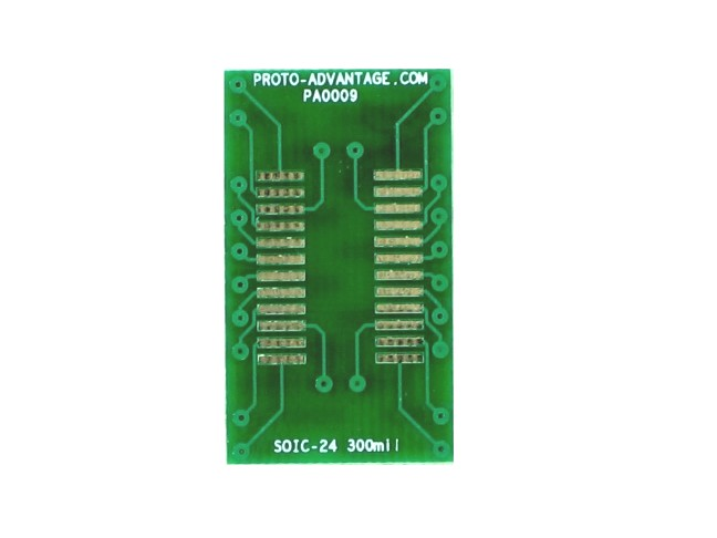 SOIC-24 to DIP-24 SMT Adapter (1.27 mm pitch, 300 mil body) 2