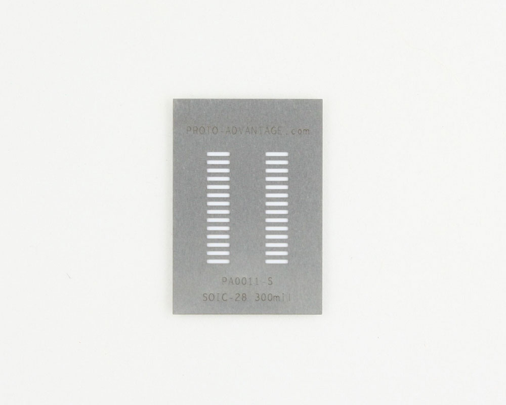 SOIC-28 (1.27 mm pitch) Stainless Steel Stencil 0
