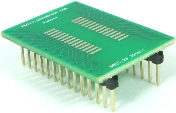 SOIC-28 (1.27 mm pitch, 300 mil body) 0