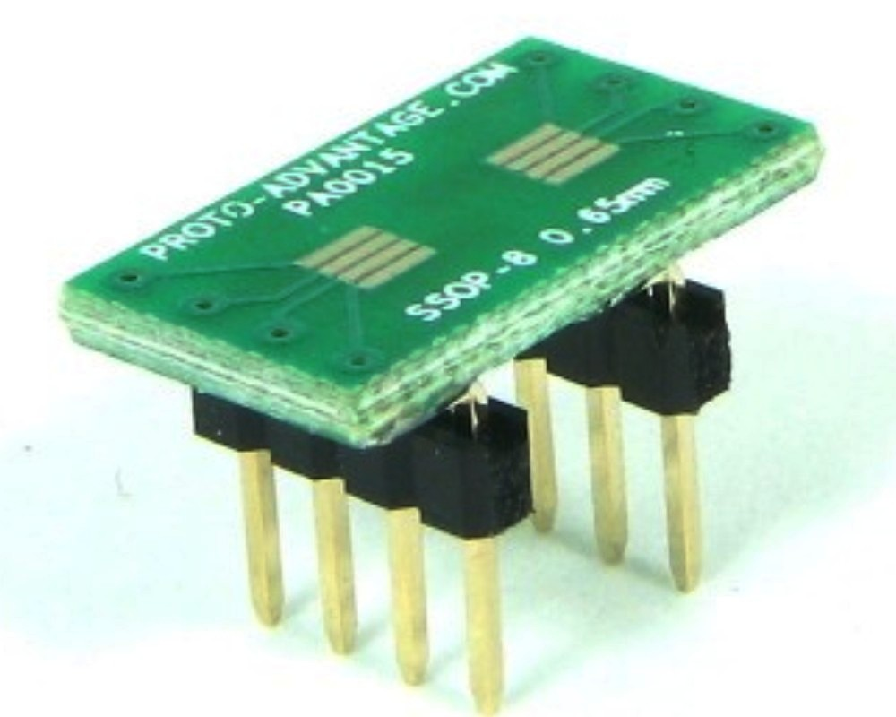 SSOP-8 to DIP-8 SMT Adapter (0.65 mm pitch) 0