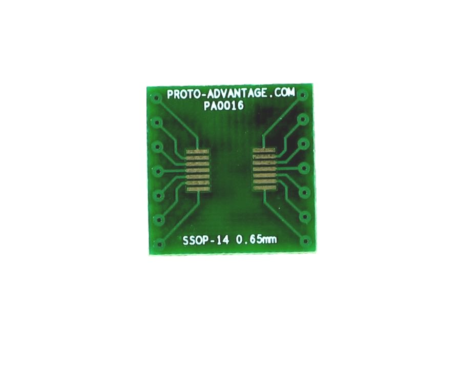 SSOP-14 to DIP-14 SMT Adapter (0.65 mm pitch) 2