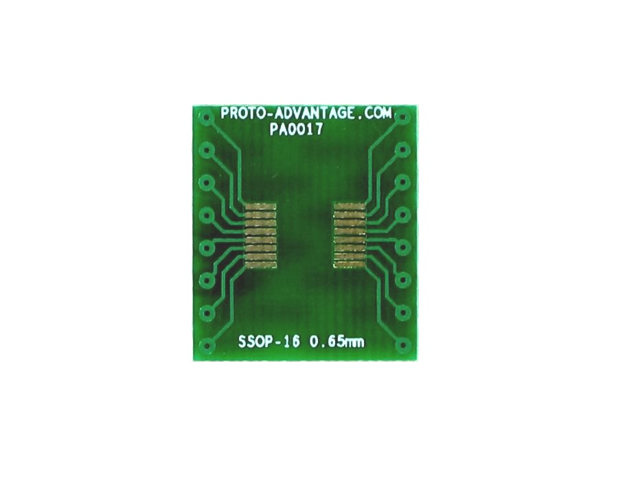 SSOP-16 to DIP-16 SMT Adapter (0.65 mm pitch) 2