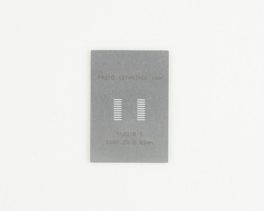 SSOP-20 (0.65 mm pitch) Stainless Steel Stencil 0