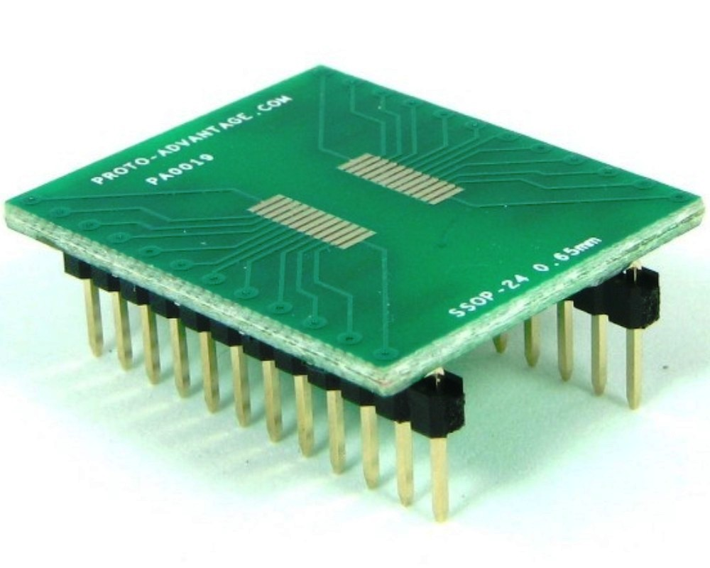 SSOP-24 to DIP-24 SMT Adapter (0.65 mm pitch) 0