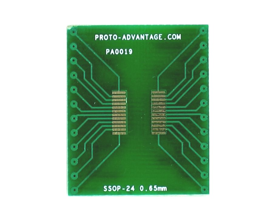SSOP-24 to DIP-24 SMT Adapter (0.65 mm pitch) 2