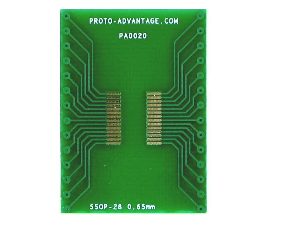 SSOP-28 to DIP-28 SMT Adapter (0.65 mm pitch) 2
