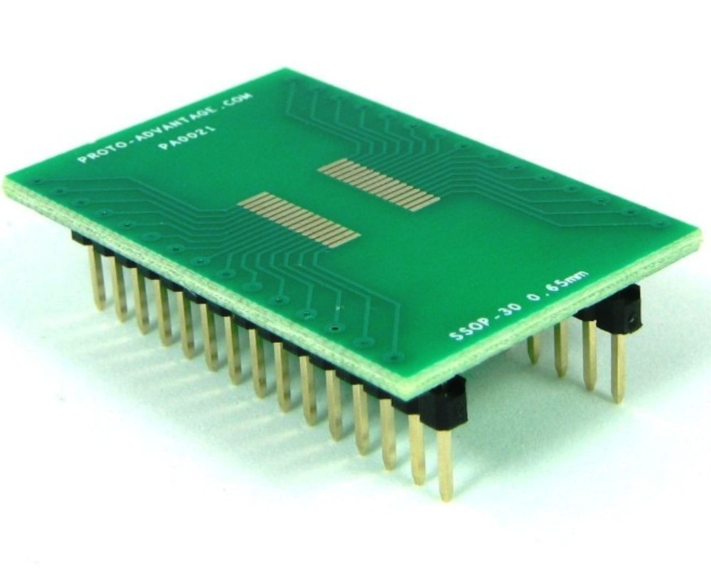 SSOP-30 to DIP-30 SMT Adapter (0.65 mm pitch) 0