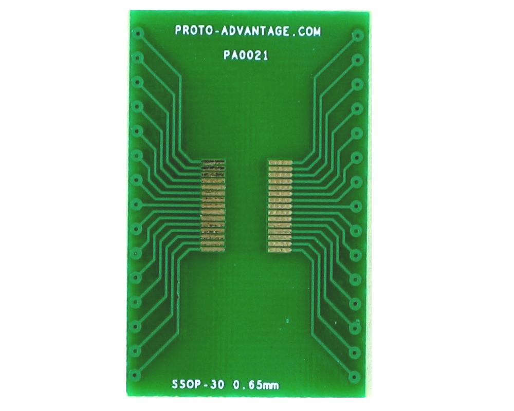 SSOP-30 to DIP-30 SMT Adapter (0.65 mm pitch) 2