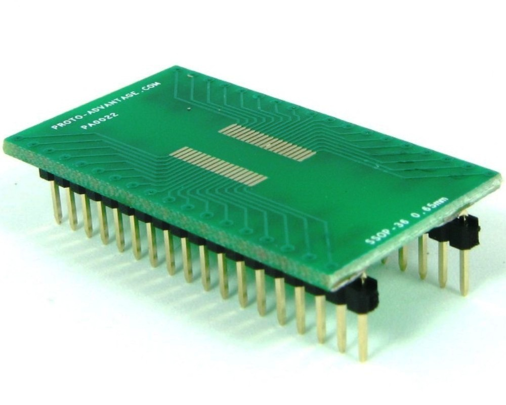 SSOP-36 to DIP-36 SMT Adapter (0.65 mm pitch) 0