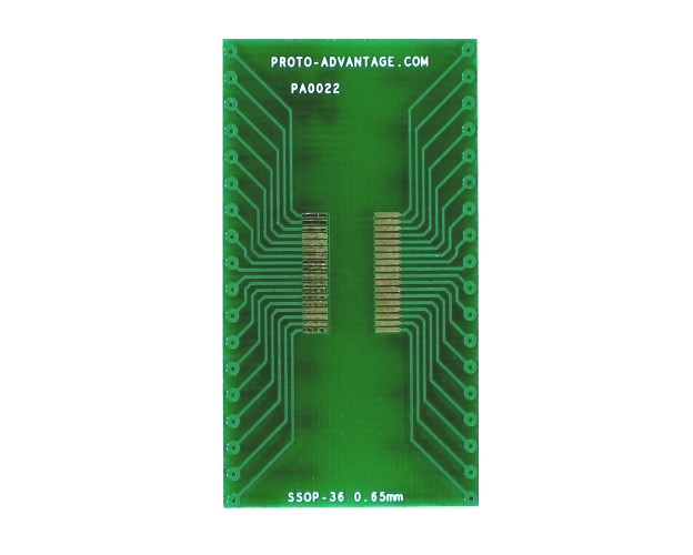 SSOP-36 to DIP-36 SMT Adapter (0.65 mm pitch) 2