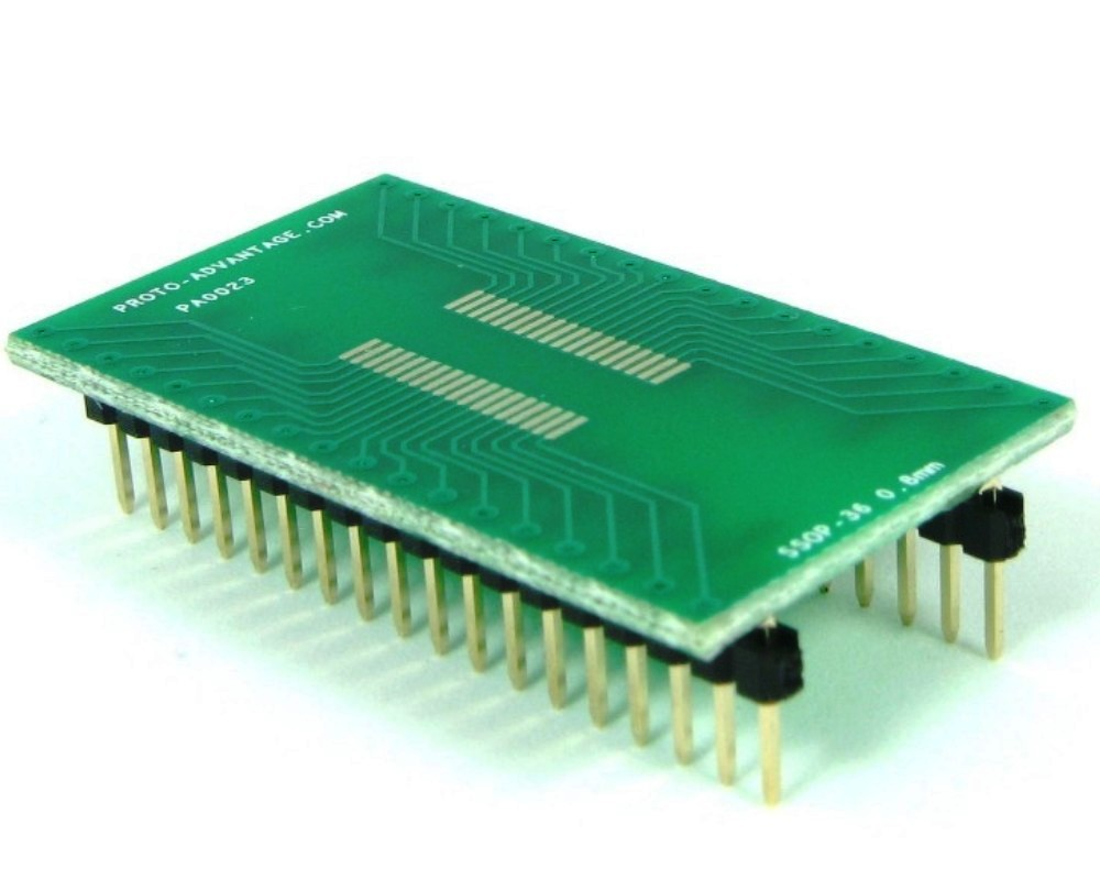 SSOP-36 to DIP-36 SMT Adapter (0.8 mm pitch) 0