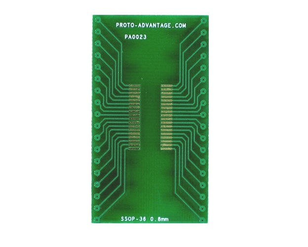 SSOP-36 to DIP-36 SMT Adapter (0.8 mm pitch) 2