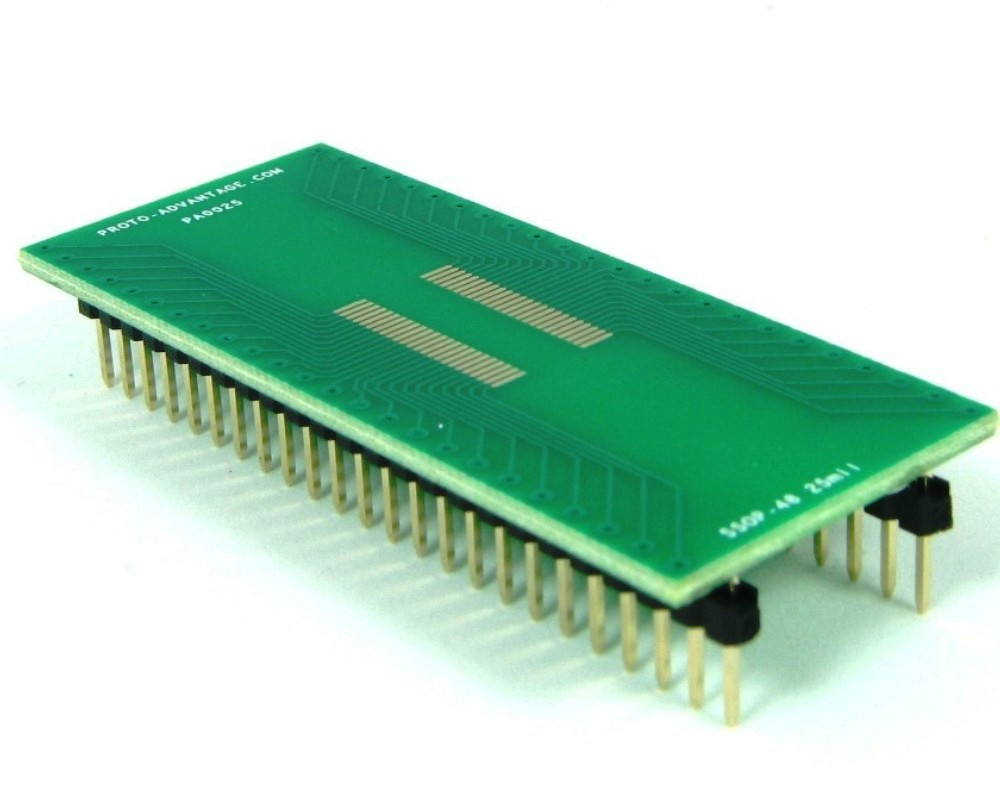 SSOP-48 to DIP-48 SMT Adapter (0.635 mm pitch) 0