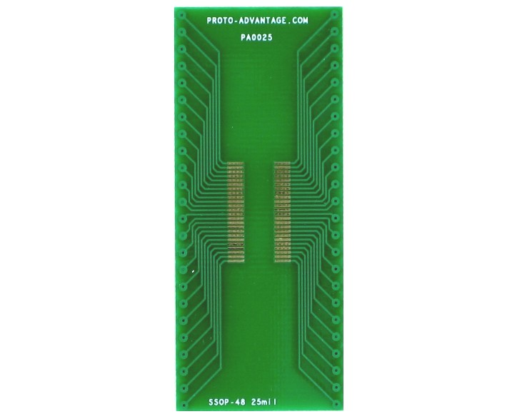 SSOP-48 to DIP-48 SMT Adapter (0.635 mm pitch) 2