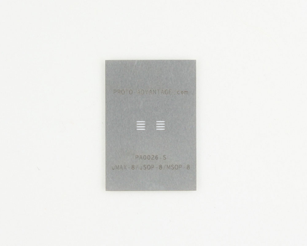 uMAX-8 (0.65 mm pitch) Stainless Steel Stencil 0