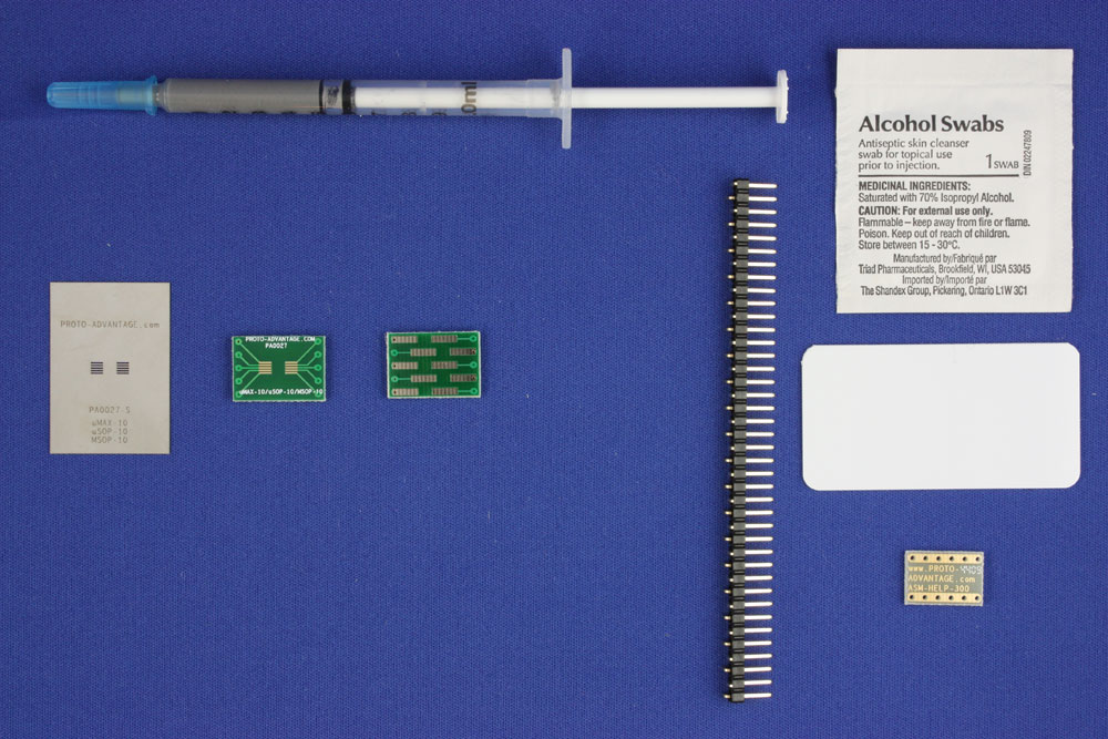 MSOP-10 (0.5 mm pitch) PCB and Stencil Kit 0