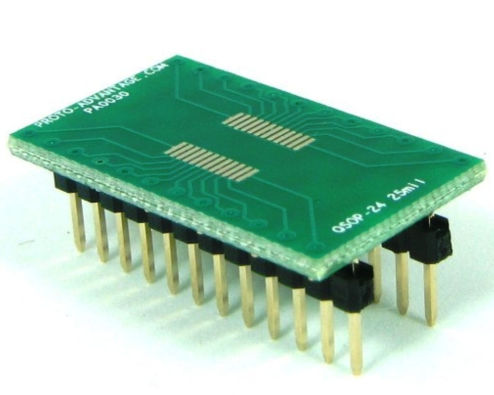 QSOP-24 to DIP-24 SMT Adapter (0.635 mm / 25 mil pitch) 0