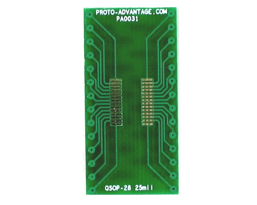 QSOP-28 to DIP-28 SMT Adapter (0.635 mm / 25 mil pitch) 2