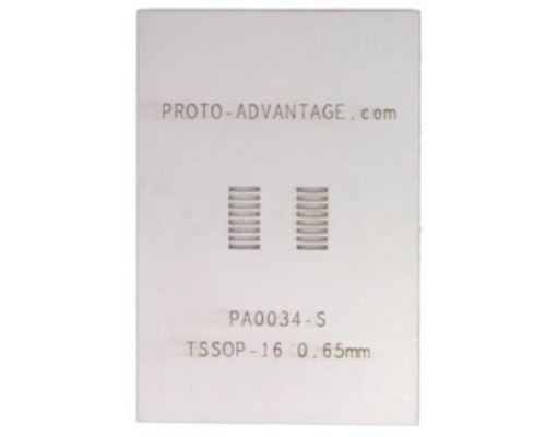 TSSOP-16 (0.65 mm pitch) Stainless Steel Stencil 0