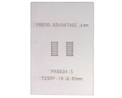 TSSOP-16 (0.65 mm pitch) Stainless Steel Stencil 0