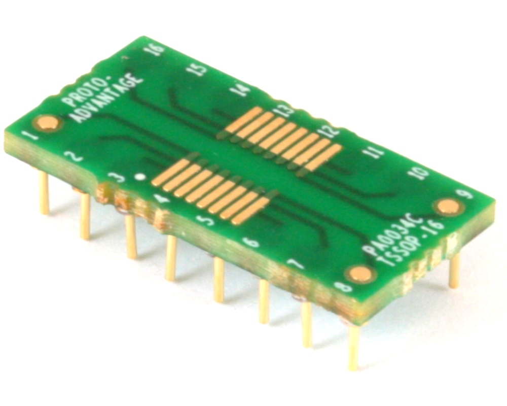 TSSOP-16 to DIP-16 SMT Adapter (0.65 mm pitch) Compact Series 0
