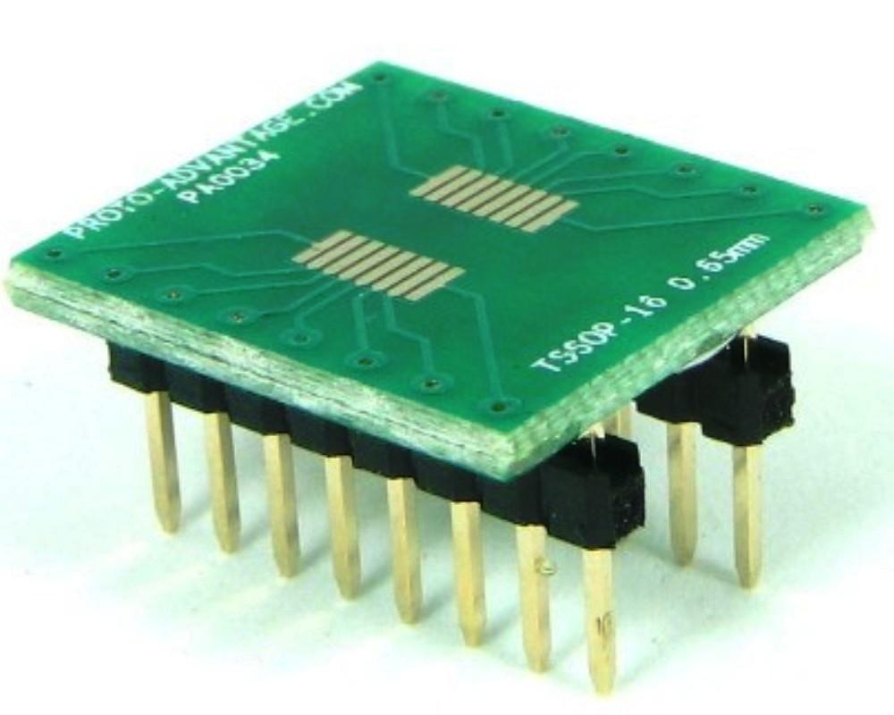 TSSOP-16 to DIP-16 SMT Adapter (0.65 mm pitch) 0